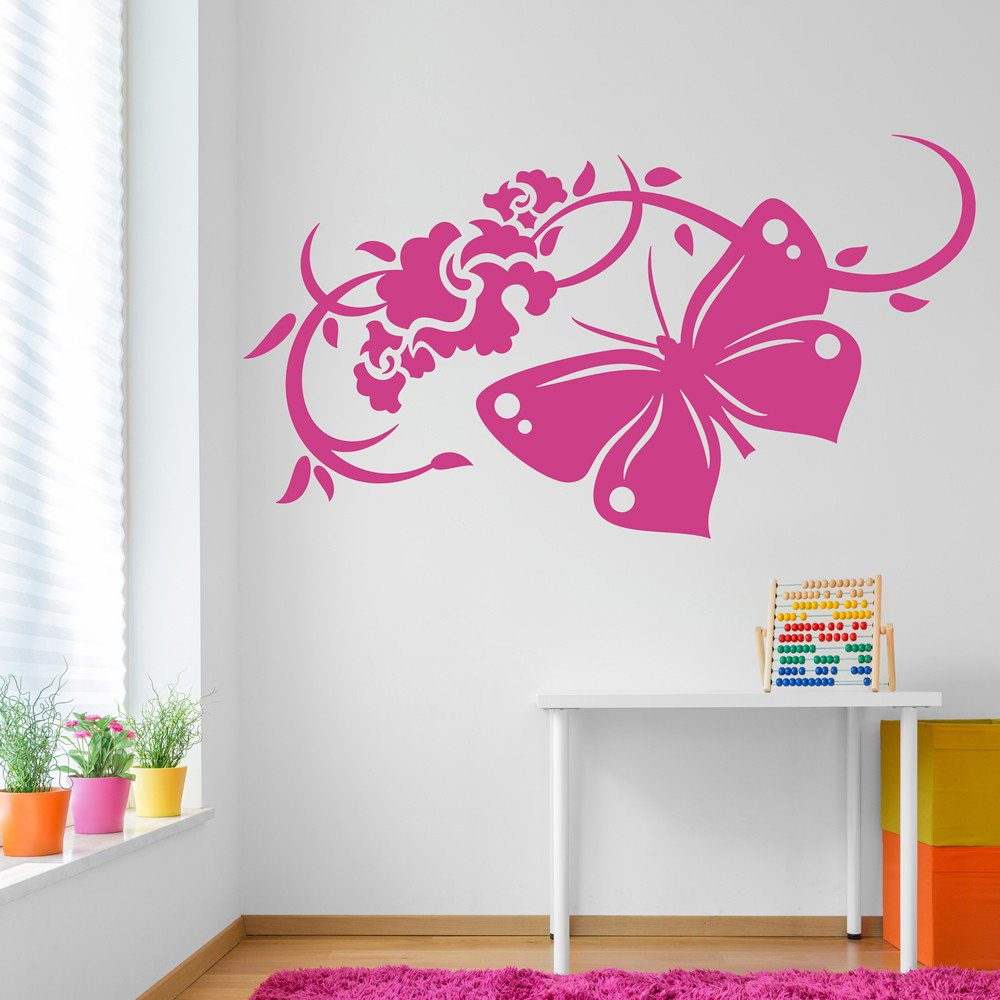 wall stickers flowers butterflies photo - 6