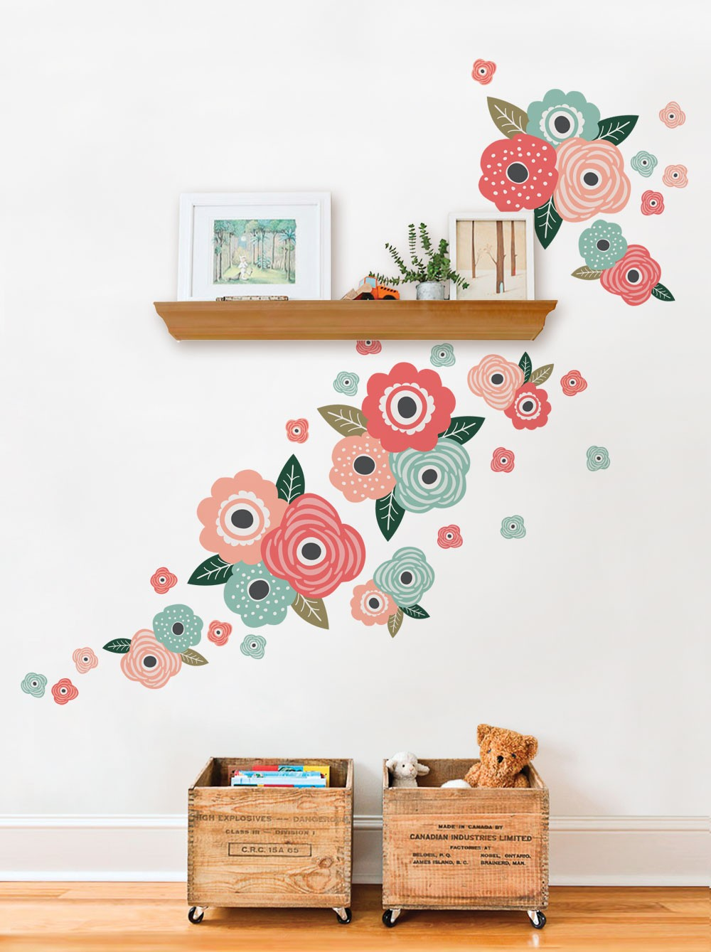 wall stickers flowers kids photo - 10