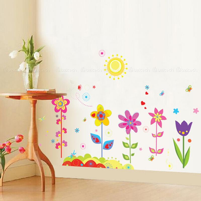 wall stickers flowers kids photo - 9