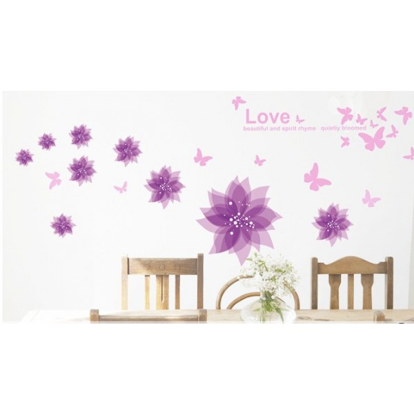 wall stickers purple flowers photo - 2