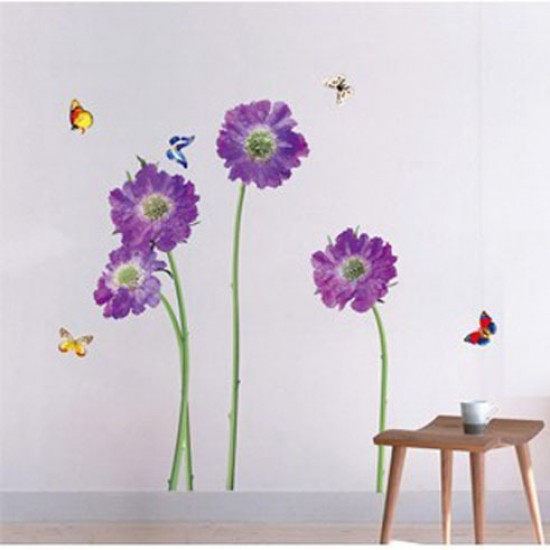 wall stickers purple flowers photo - 3