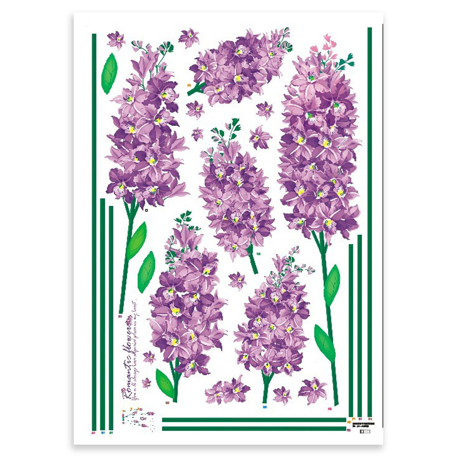 wall stickers purple flowers photo - 4