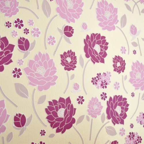 wall stickers purple flowers photo - 6