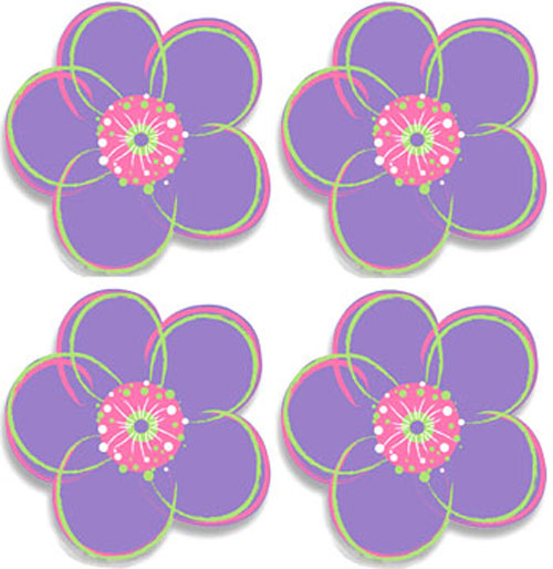 wall stickers purple flowers photo - 8