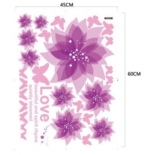 wall stickers purple flowers photo - 9