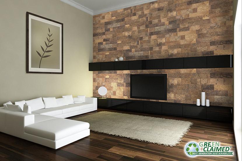 wall tiles designs living room photo - 1