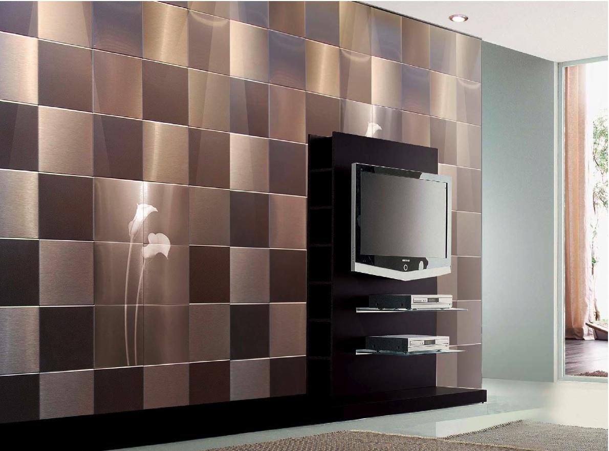 wall tiles designs living room photo - 4