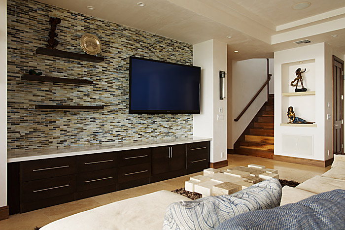wall tiles designs living room photo - 5