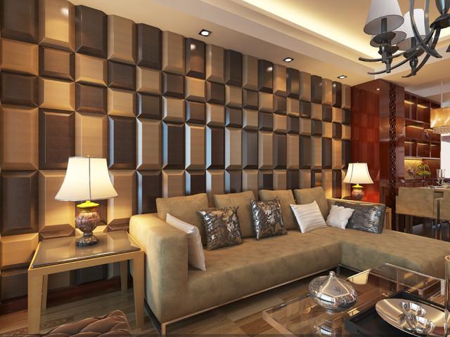 wall tiles designs living room photo - 7