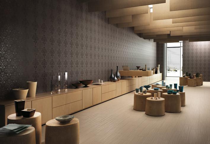 wall tiles designs living room photo - 9