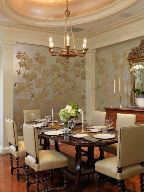 wallpaper for dining room photo - 5