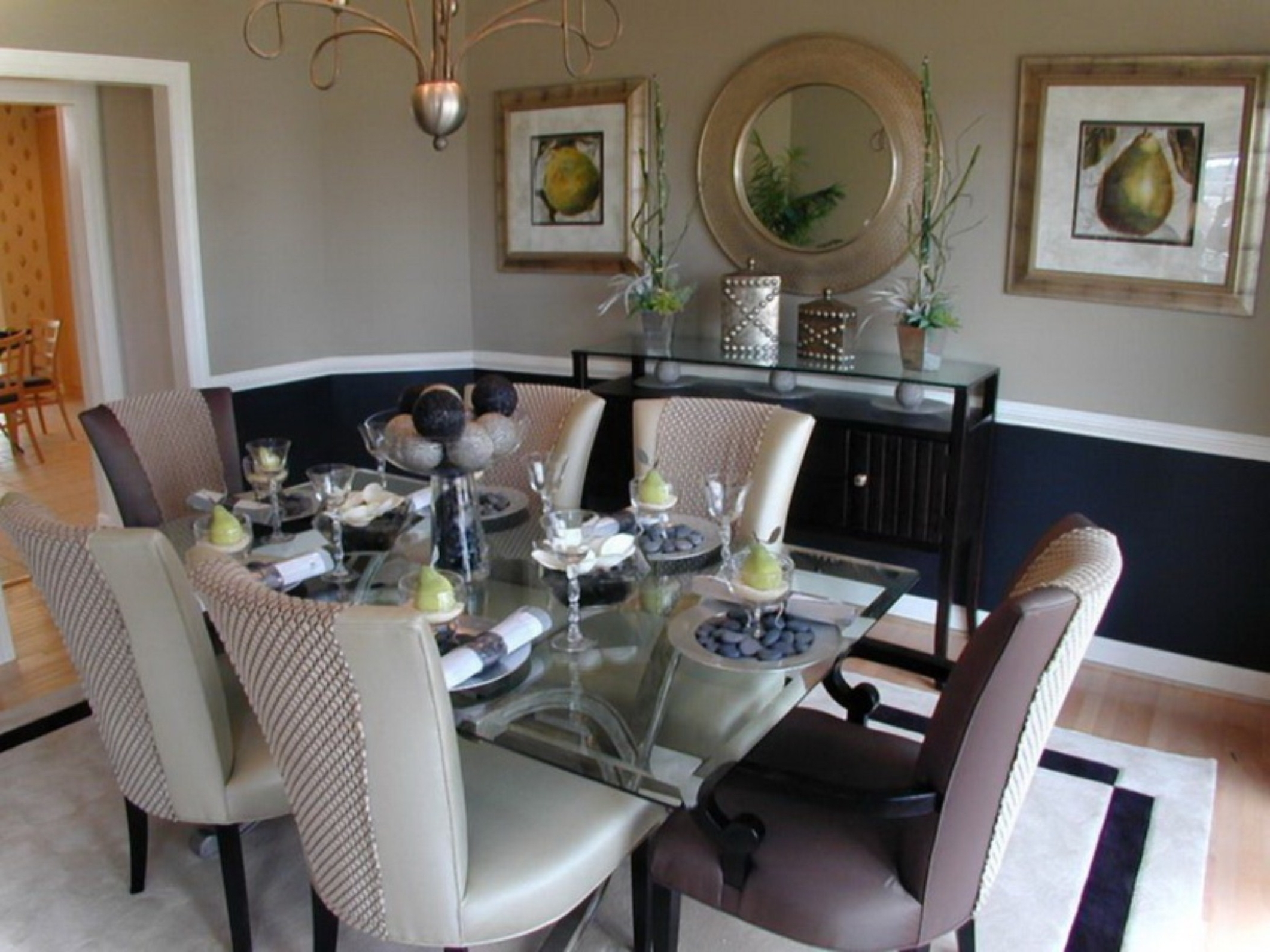 wallpaper for dining room modern photo - 1