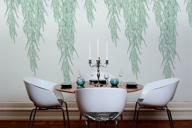 wallpaper for dining room modern photo - 7