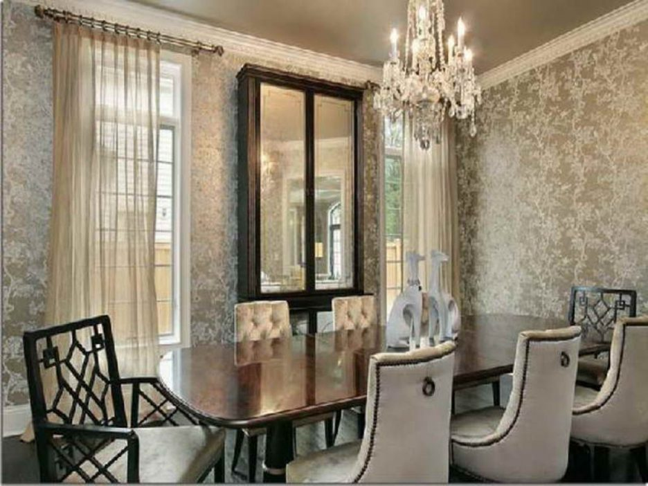 wallpaper for dining room modern photo - 9