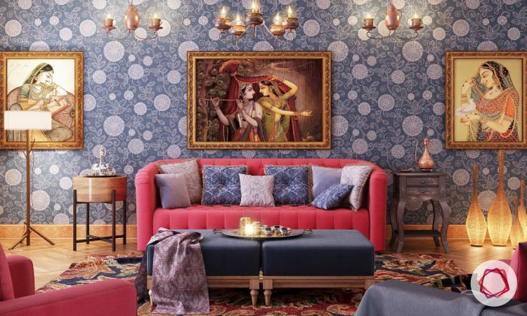 wallpaper interior design india photo - 9