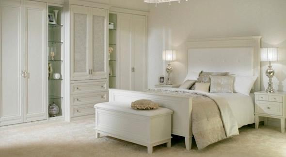 white bedroom furniture decorating ideas photo - 1
