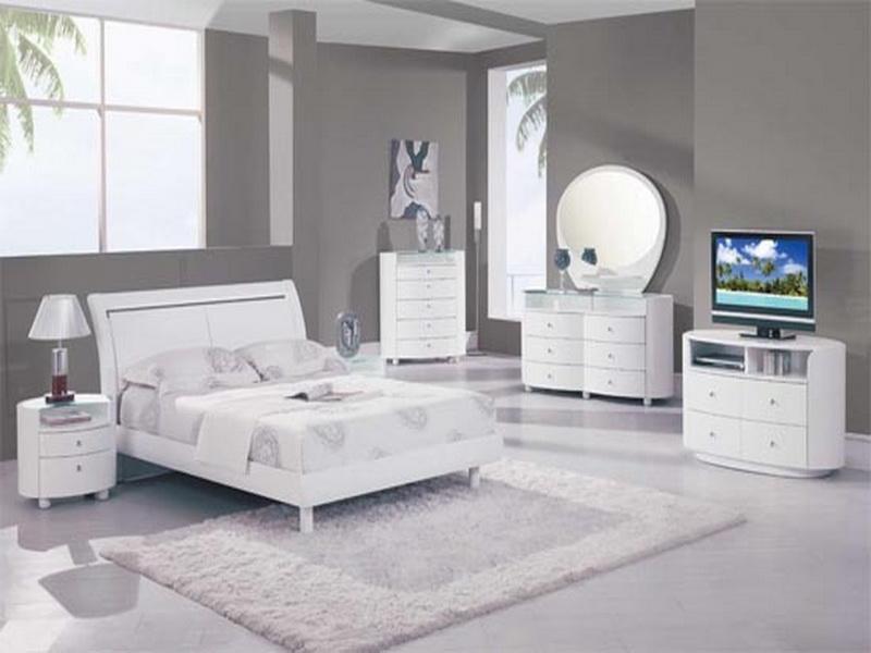 white bedroom furniture decorating ideas photo - 2