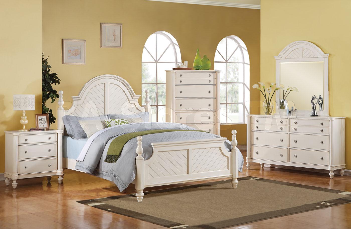 white bedroom furniture decorating ideas photo - 8