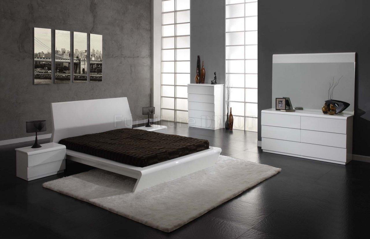 white bedroom furniture decorating ideas photo - 9