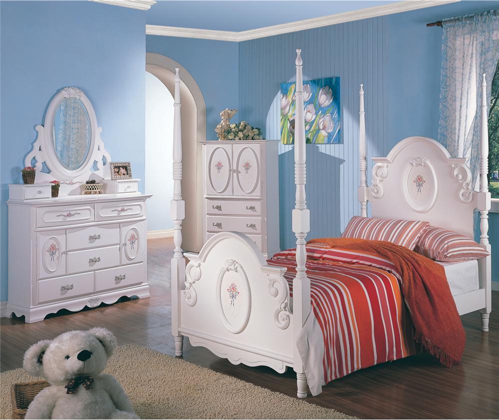 white bedroom furniture for little girls photo - 1