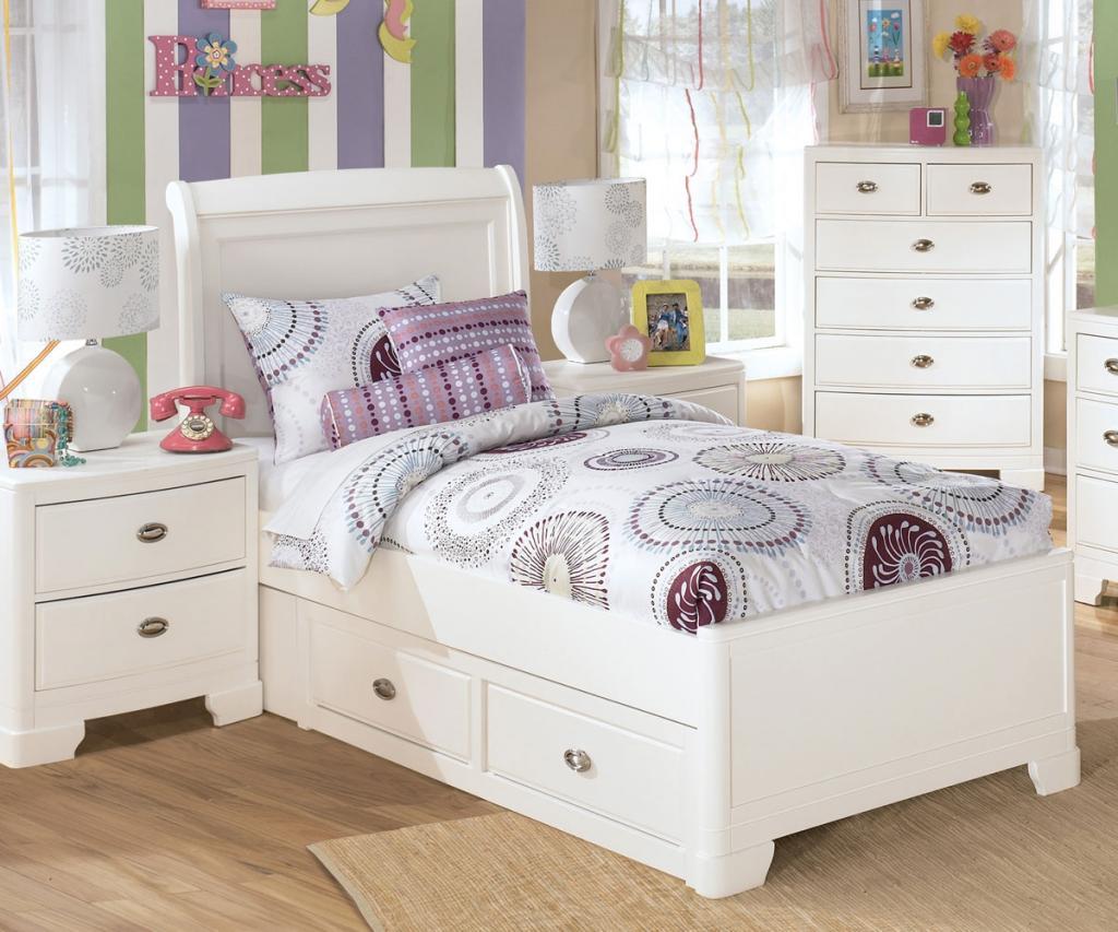 white bedroom furniture for little girls photo - 2