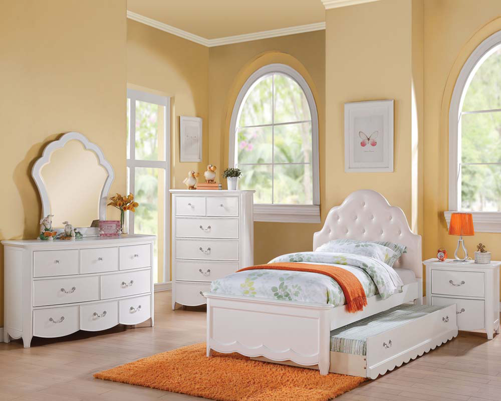 white bedroom furniture sets for girls photo - 2