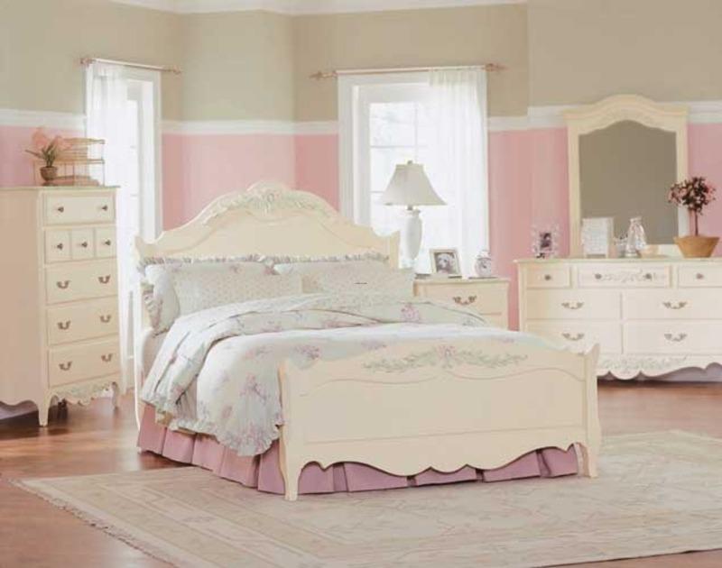 white full bedroom furniture for girls photo - 2
