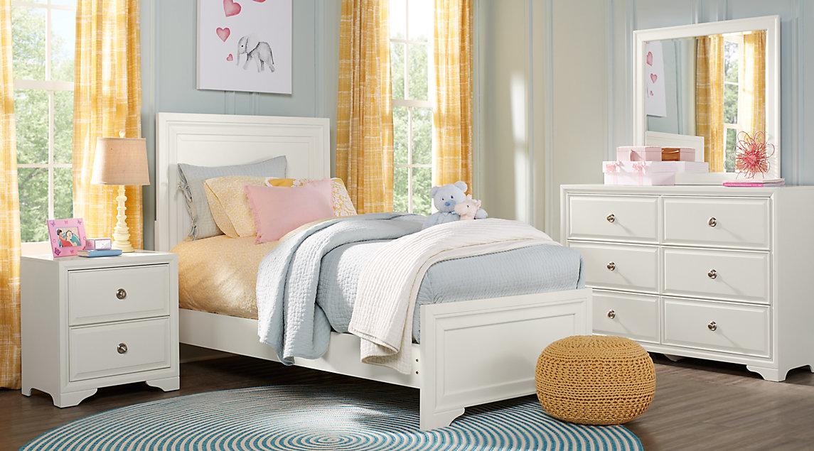white full bedroom furniture for girls photo - 3