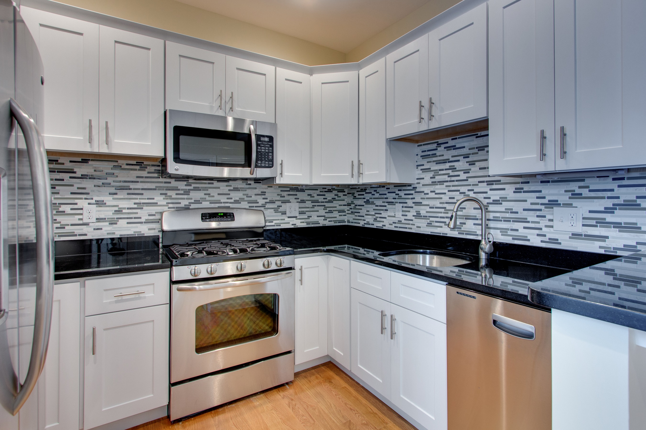 white kitchen cabinets floor color photo - 10