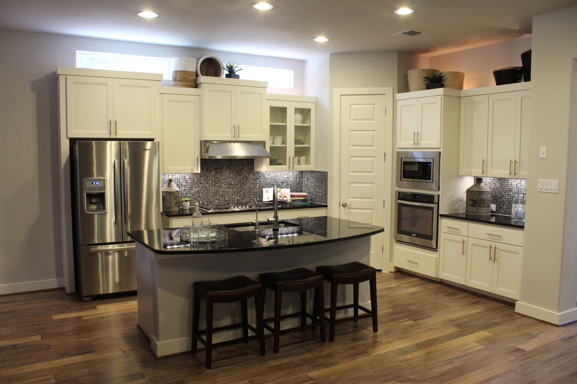 white kitchen cabinets floor color photo - 4