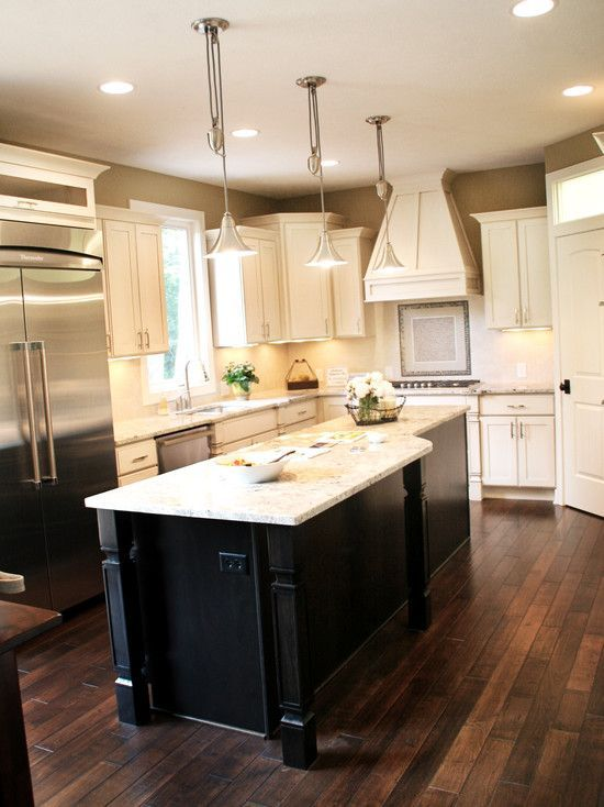 white kitchen cabinets floor color photo - 7