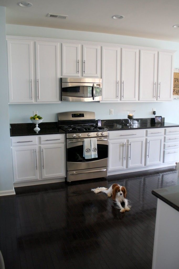 white kitchen cabinets floor color photo - 8