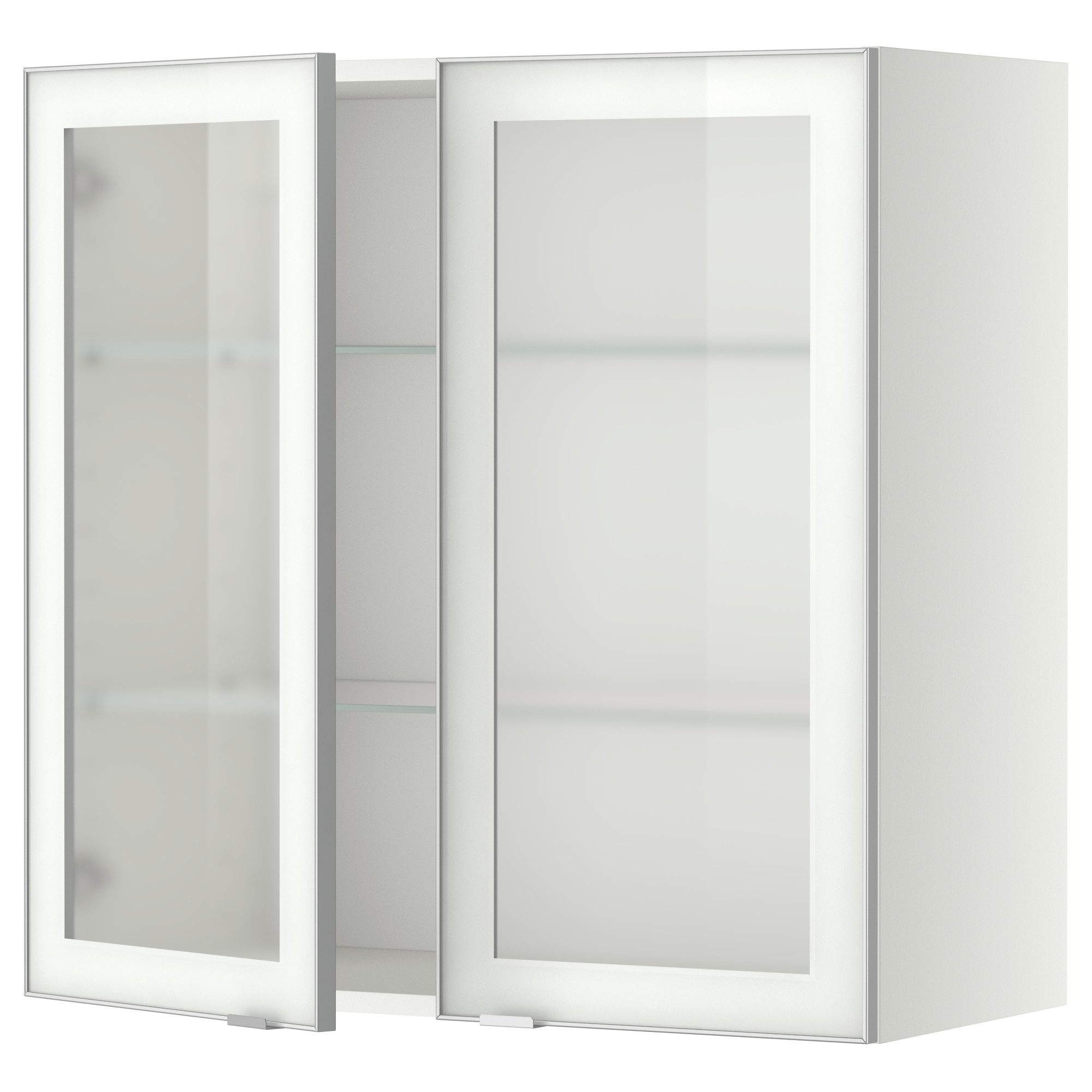 white kitchen cabinets frosted glass photo - 10