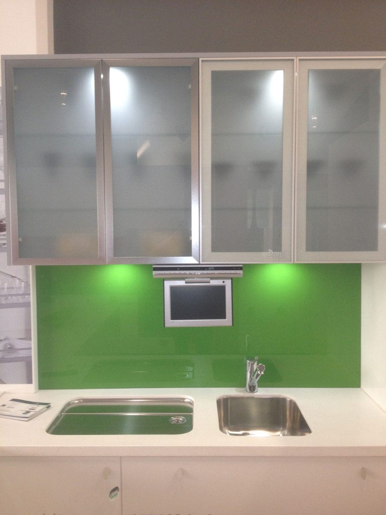 white kitchen cabinets frosted glass photo - 6