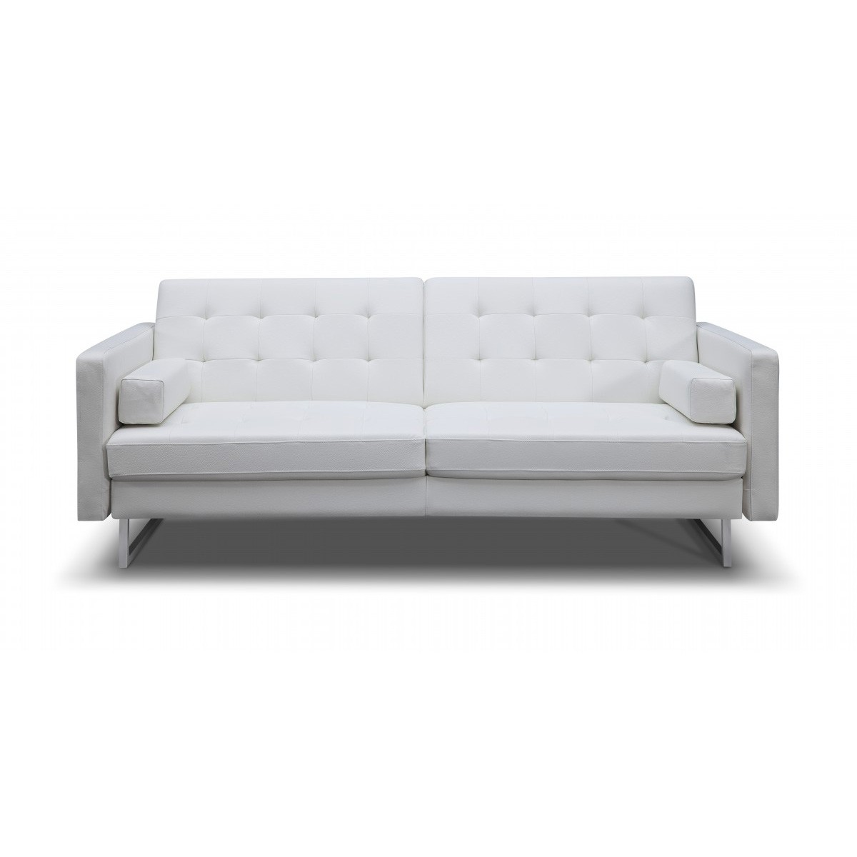 white leather sectional sofa bed photo - 4