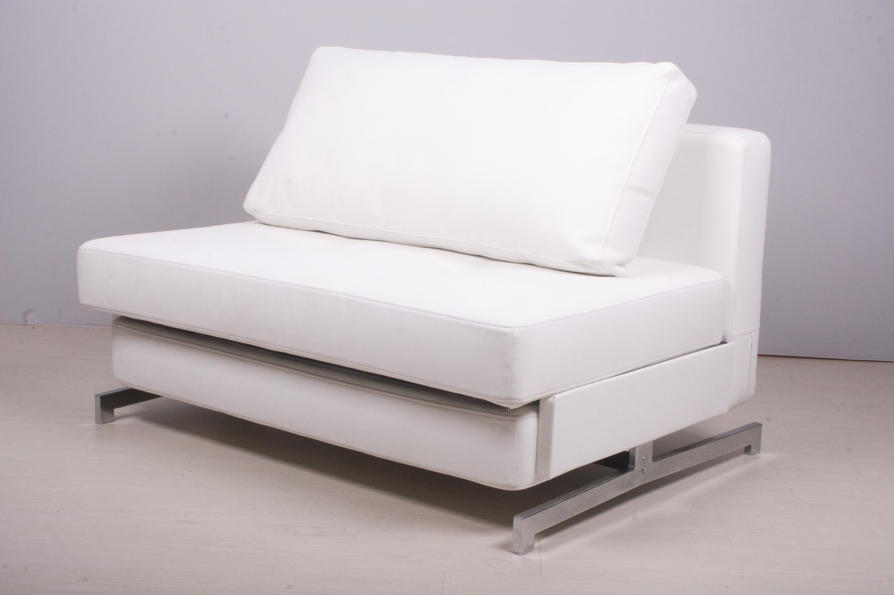 white leather sectional sofa bed photo - 7