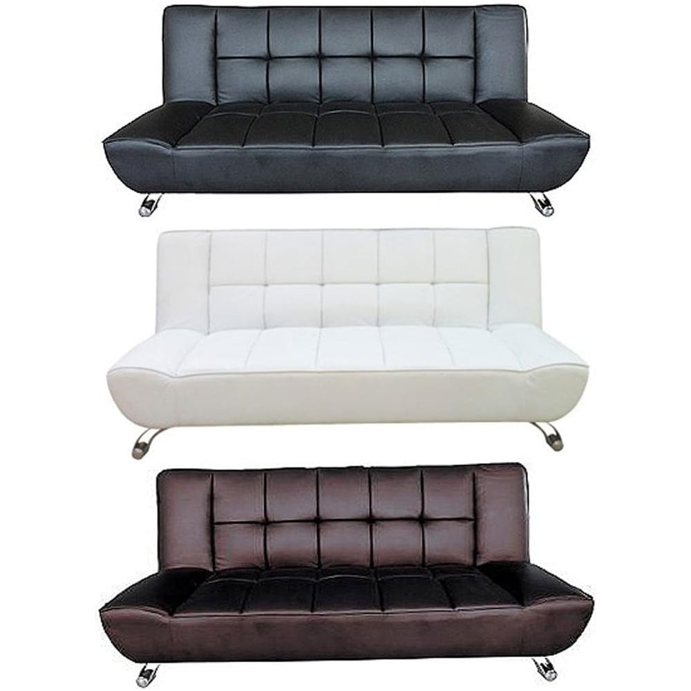 white leather sectional sofa bed photo - 8