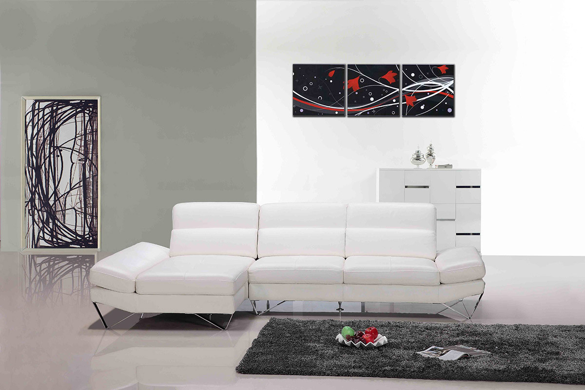 white modern sectional leather sofa photo - 4