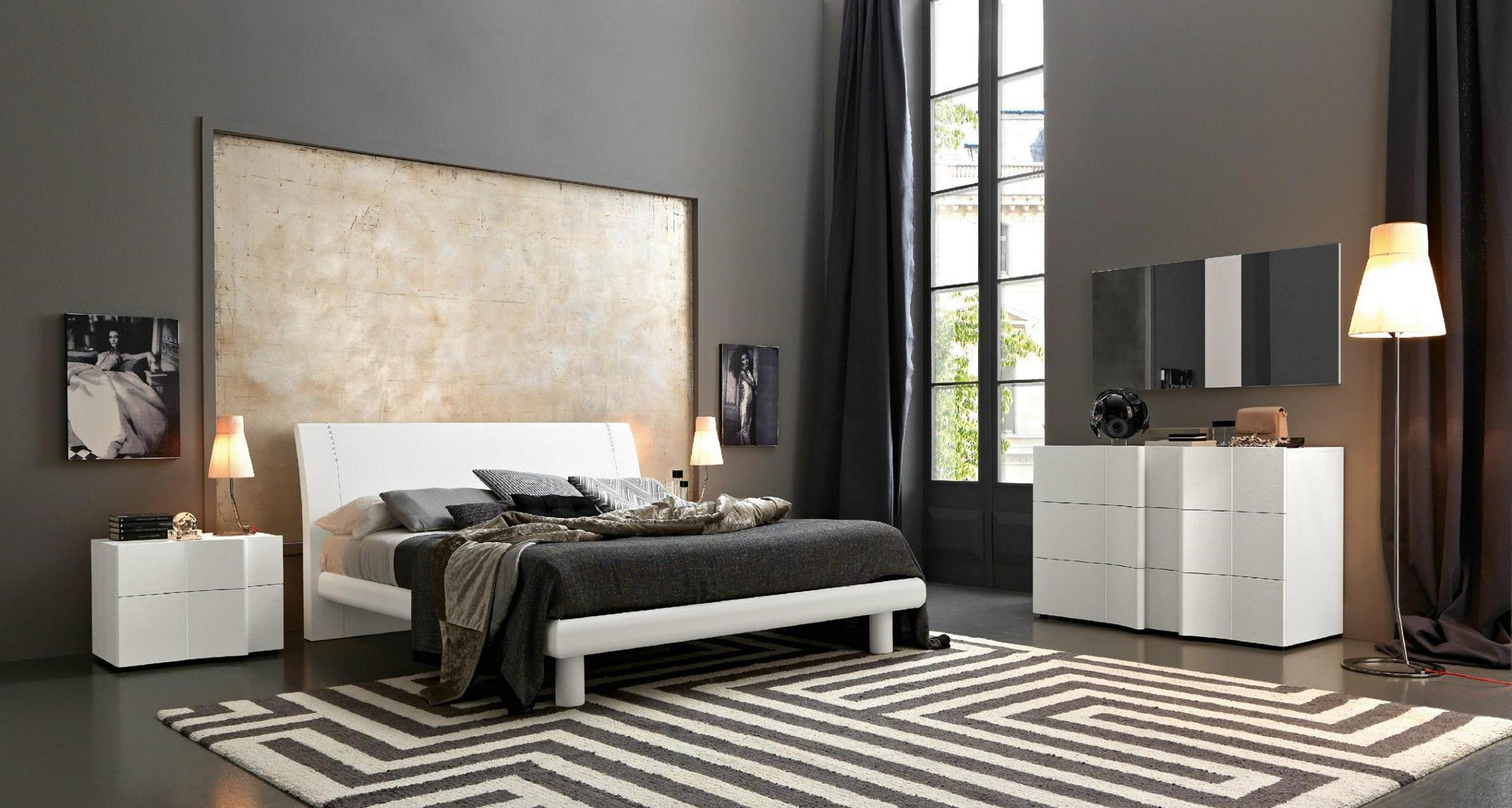 white or black bedroom furniture photo - 7