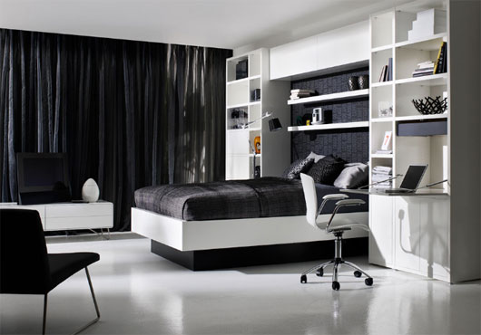 white or black bedroom furniture photo - 9