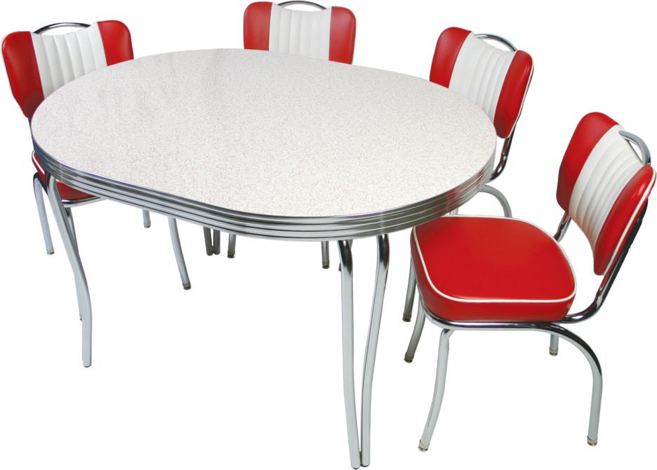 white retro kitchen chairs photo - 4