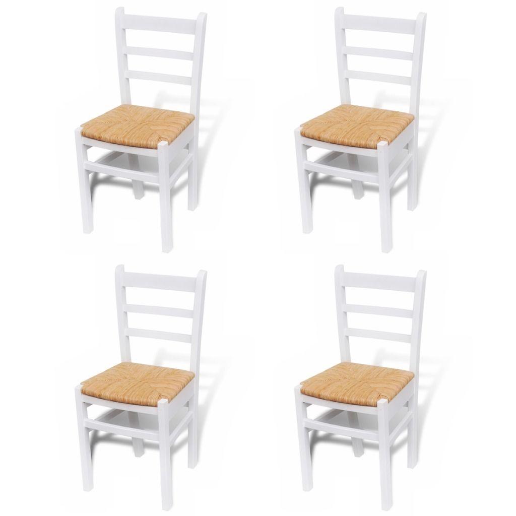 white retro kitchen chairs photo - 5
