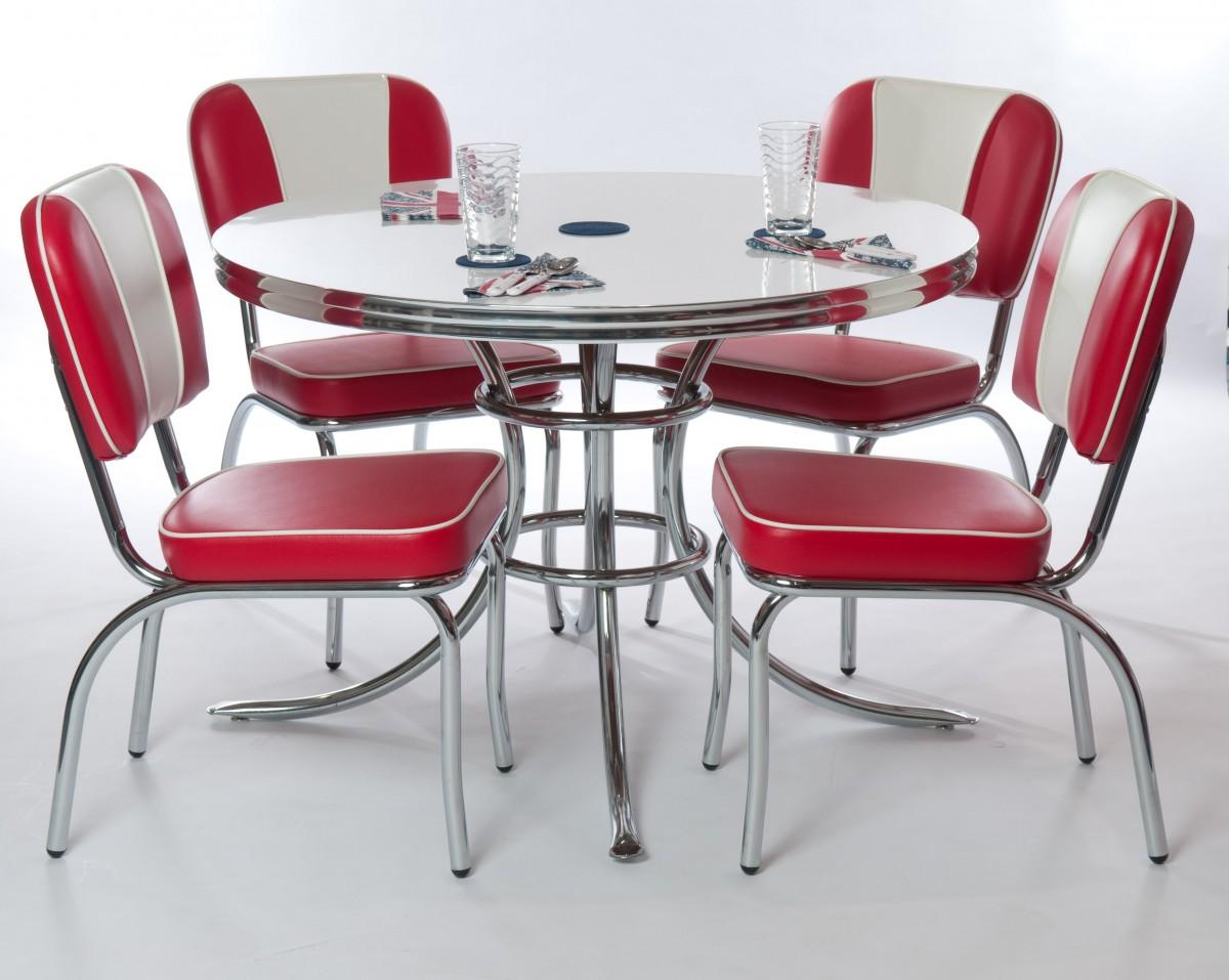 white retro kitchen chairs photo - 7