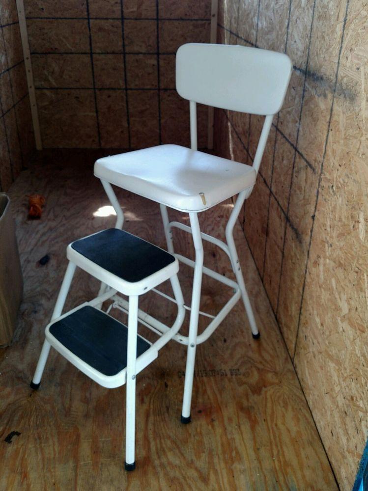 white retro kitchen chairs photo - 8
