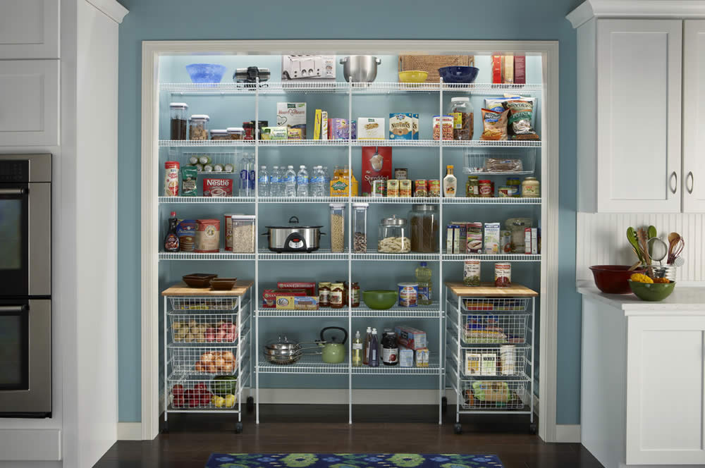 Wire pantry shelving systems | Hawk Haven