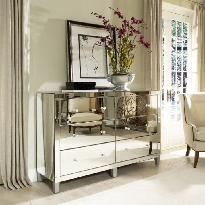 wood and mirrored bedroom furniture photo - 8