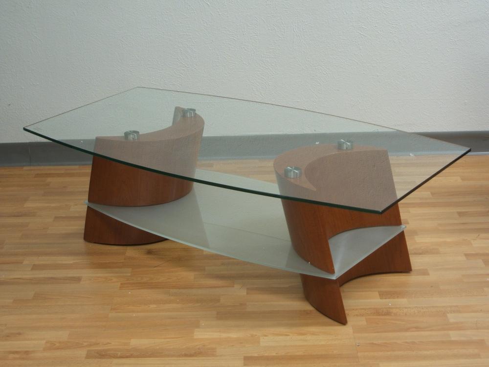 wood coffee table base photo - 5