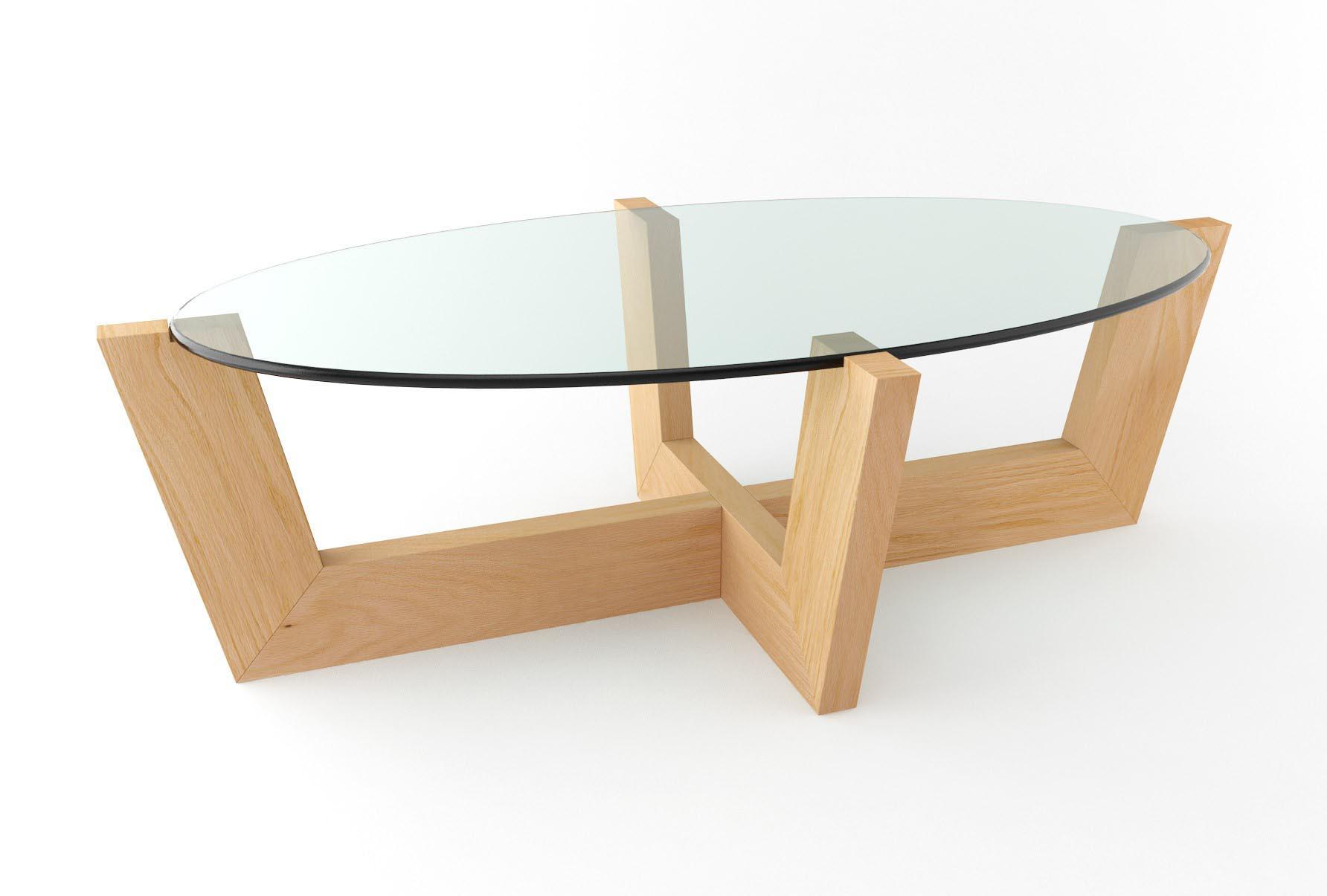 wood coffee table base photo - 8