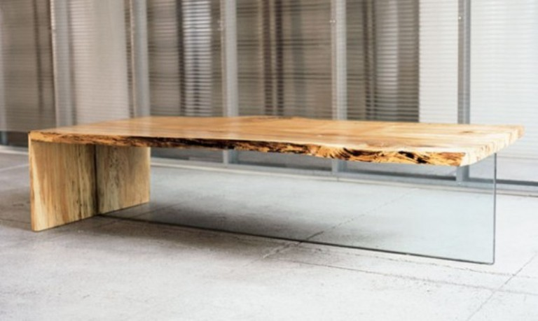 wood coffee table contemporary photo - 3