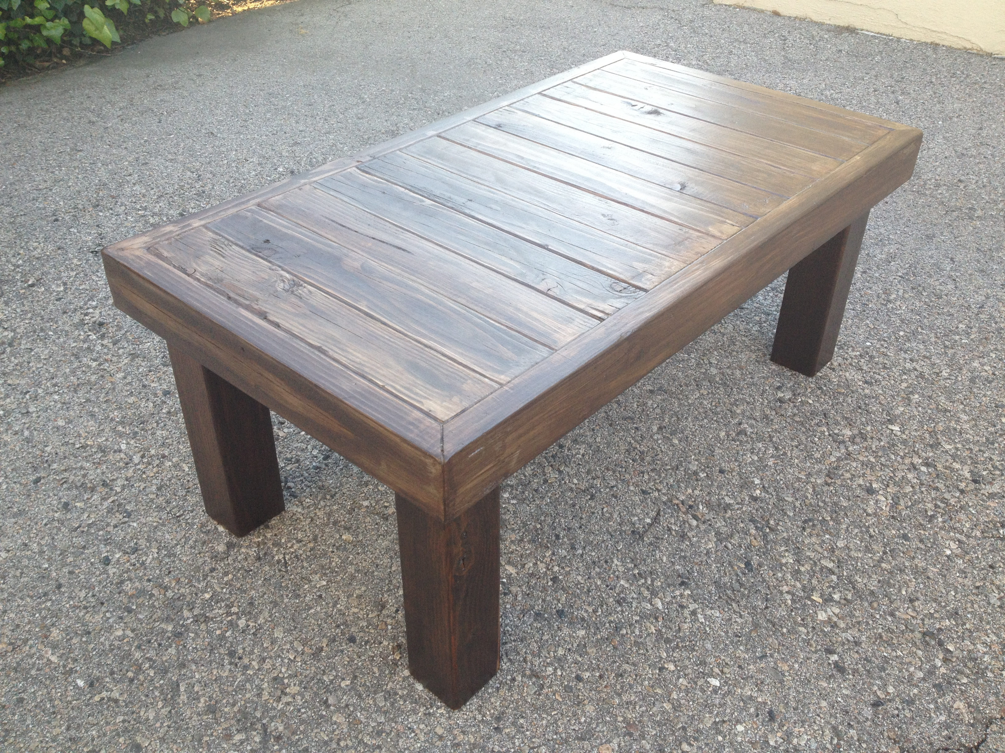 wood coffee table design plans photo - 5